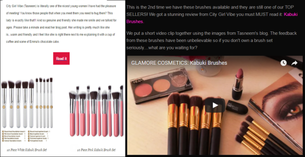 glamore-cosmetics-newsletter-and-website