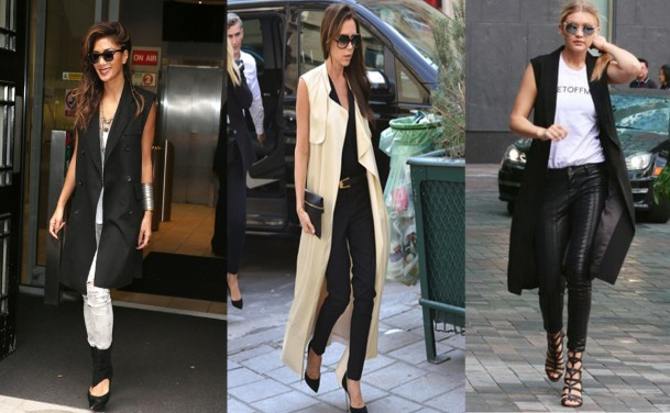 City Girl Vibe Celebs wearing sleeveless jacket