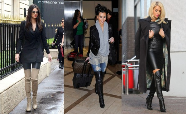 City Girl Vibe Celebrities wearing thigh high boots