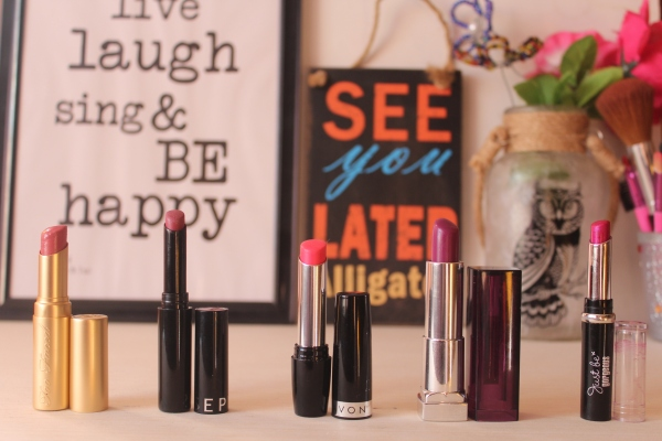 City Girl Vibe 5 favourite lipsticks may 2016