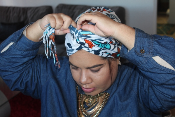 City Girl Vibe Step 10 Turban Tutorial