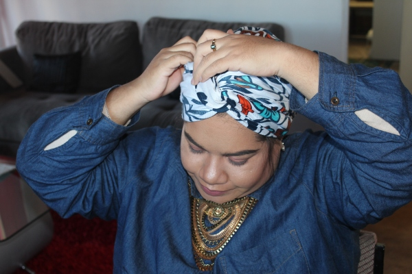 City Girl Vibe Step 11 Turban Tutorial
