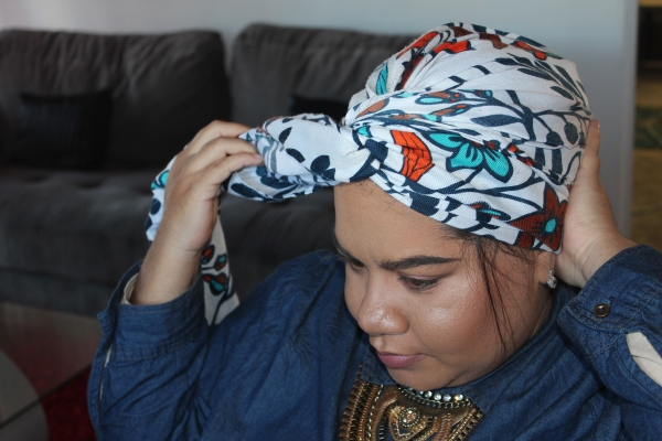 City Girl Vibe Step 5 Turban Tutorial