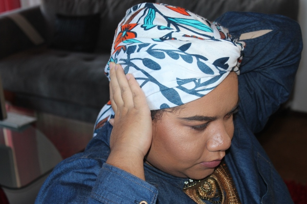 City Girl Vibe Step 7 Turban Tutorial