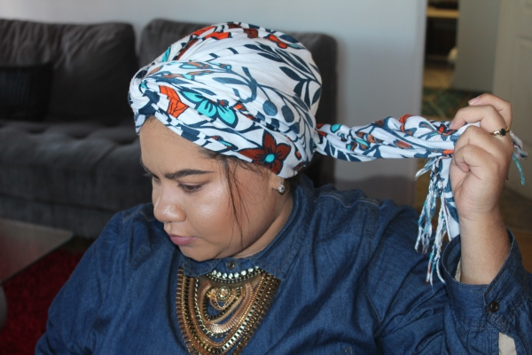 City Girl Vibe Step 8 Turban Tutorial