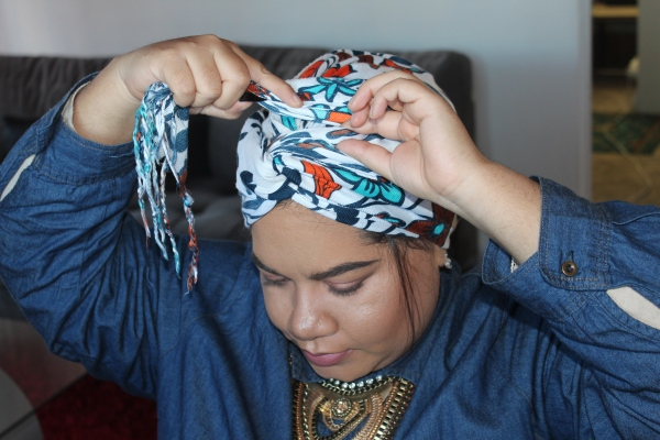 City Girl Vibe Step 9 Turban Tutorial