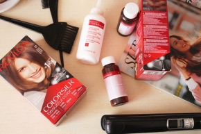 {Review} Revlon Colorsilk at home hair dye kit + Before – Afterpictures.