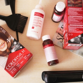 {Review} Revlon Colorsilk at home hair dye kit + Before – After pictures.