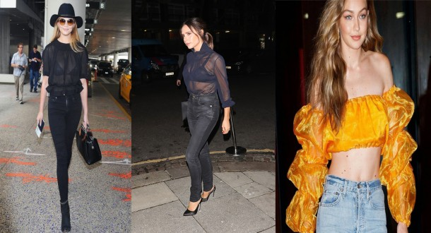 City Girl Vibe x Celebs wearing the organza blouse
