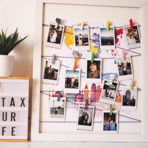 {DIY} How I display my Instax Mini prints and a quick DIY.