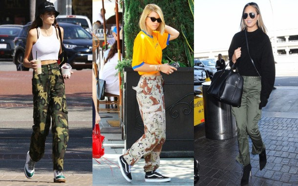 City Girl Vibe x Celebs wearing the cargo pants trend