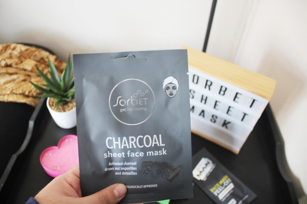 City Girl Vibe x Sorbet Charcoal Sheet Mask